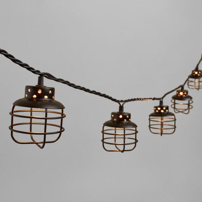 black metal cage 10 bulb string lights world market