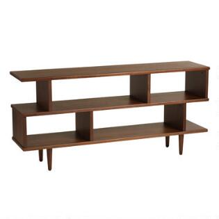 Display cabinets rustic bookcases shelves world market walnut brown wood ashlyn bookshelf gumiabroncs Choice Image