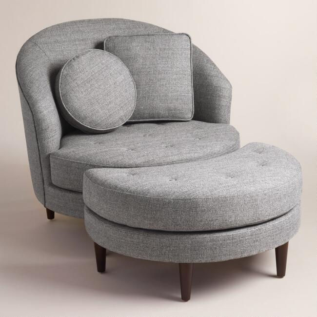 Gray Seren Round Seating Collection | World Market