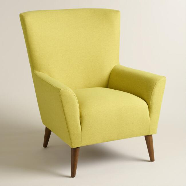 Chartreuse Green Finnegan Wingback Chair