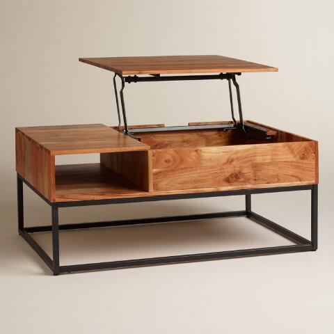 Wood Silas Storage Coffee Table