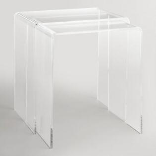 Nesting Tables World Market - Clear nesting tables