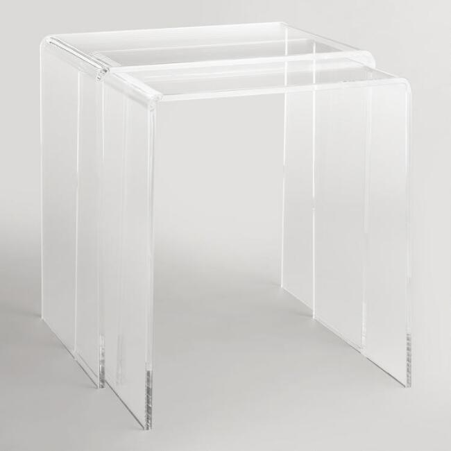 Clear Acrylic Thad Nesting Tables Set Of World Market - Clear nesting tables