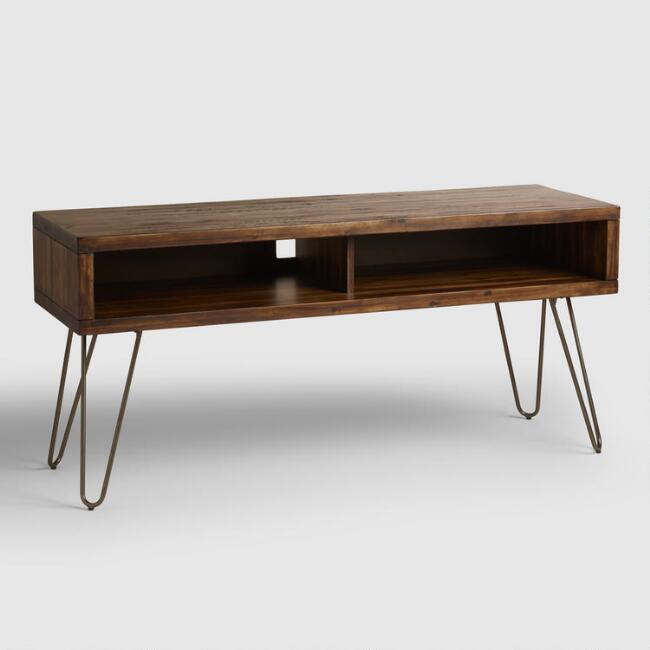 Wood Hairpin Media Stand