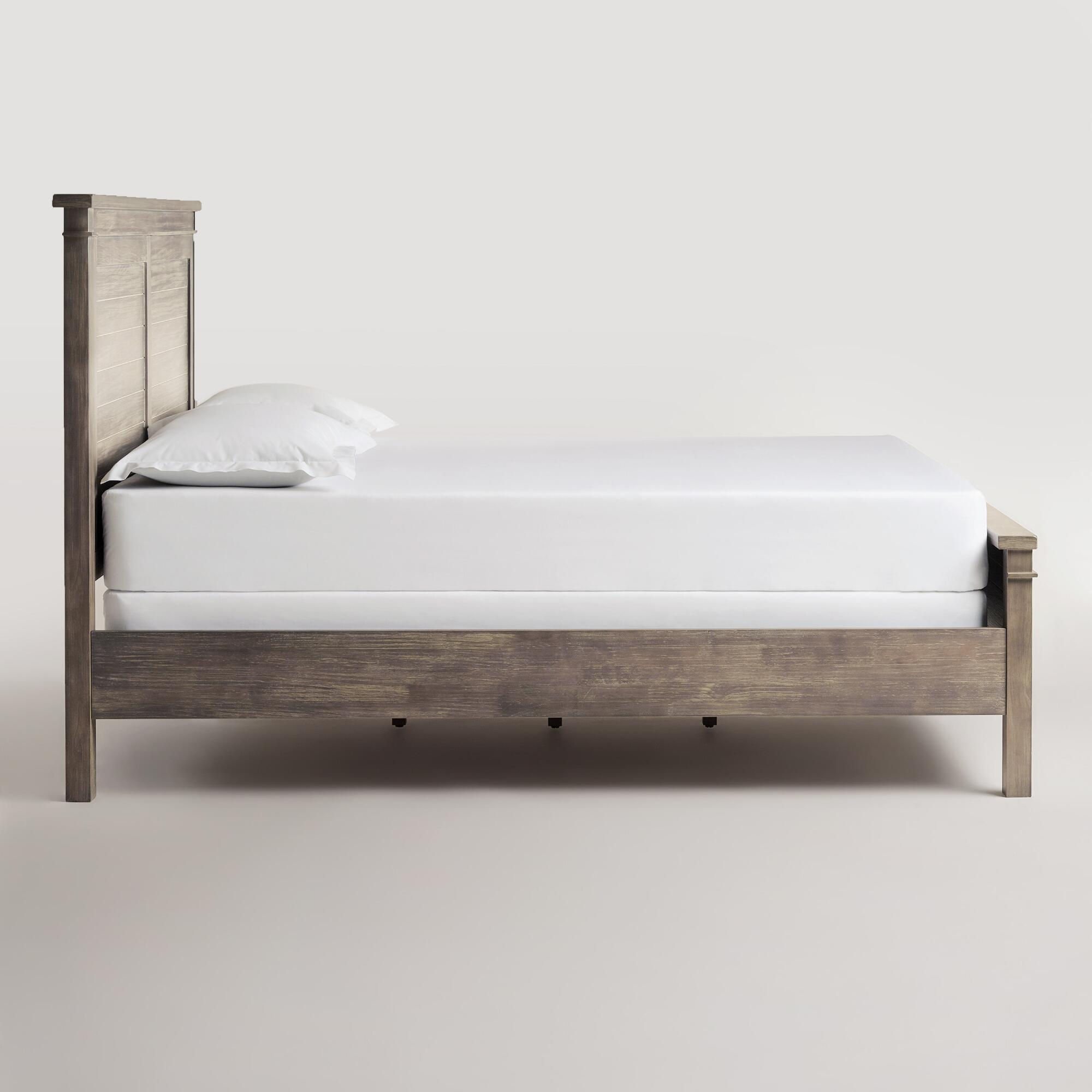 Gray Wood Layne Queen Bed | World Market