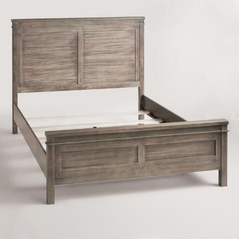 Gray Wood Layne Queen Bed - Gray Wood Layne Queen Bed World Market