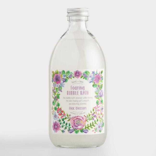 Bird and Bee Lilac Blossom Bubble Bath