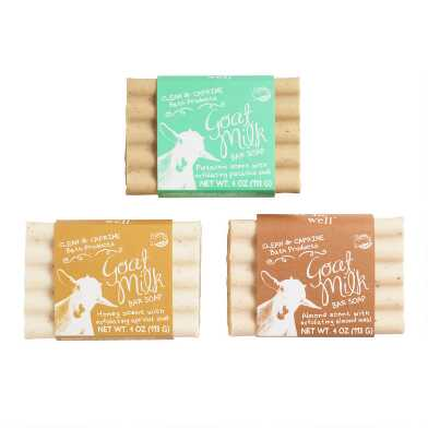 Be Well Goat Milk Exfoliating Bar Soap Collection
