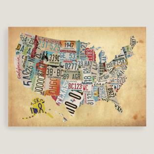 Gallery wall styles maps travel lookbook inspirations world market empty link usa map canvas wall art gumiabroncs