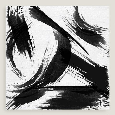 Black And White Abstract Canvas Wall Art
