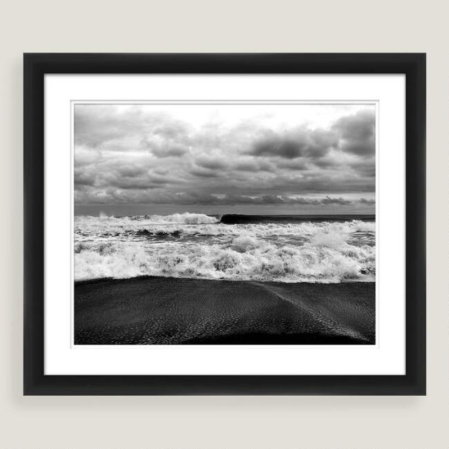 Crashing In Shadow Box Framed Photo Print Wall Art
