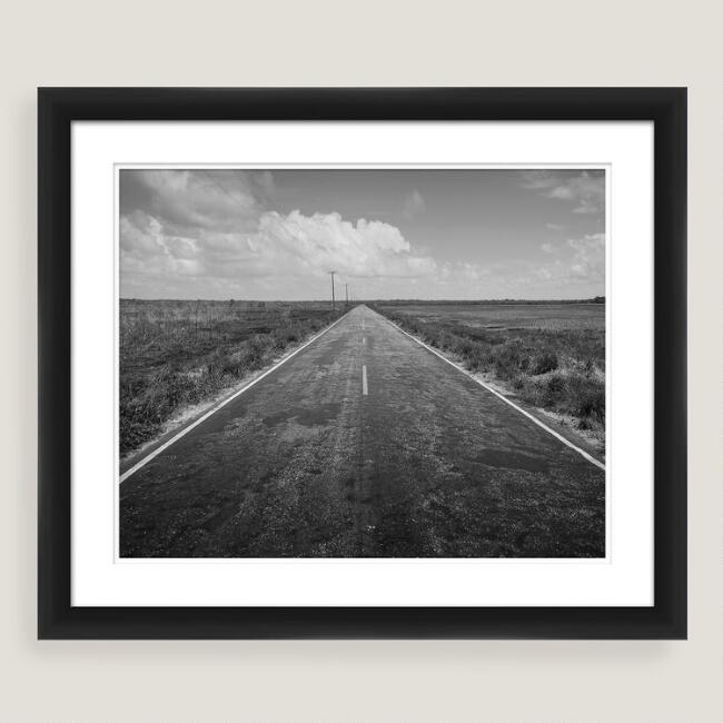 Long Road Home Shadow Box Framed Photo Print Wall Art