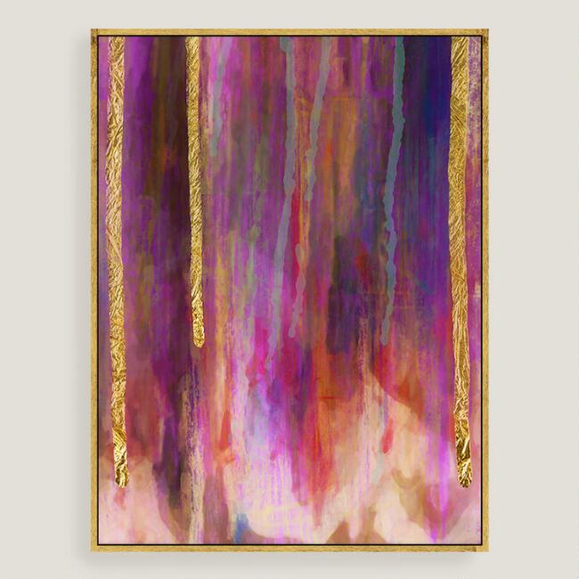 Purple Hues Canvas Wall Art with Gold Leaf