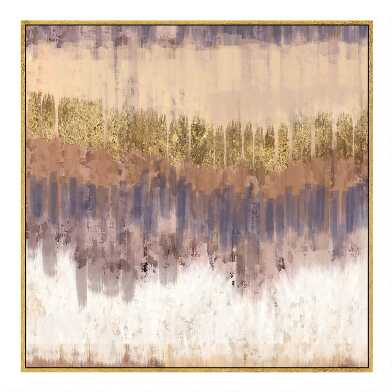 Golden Field Framed Canvas Wall Art With Gold Leaf