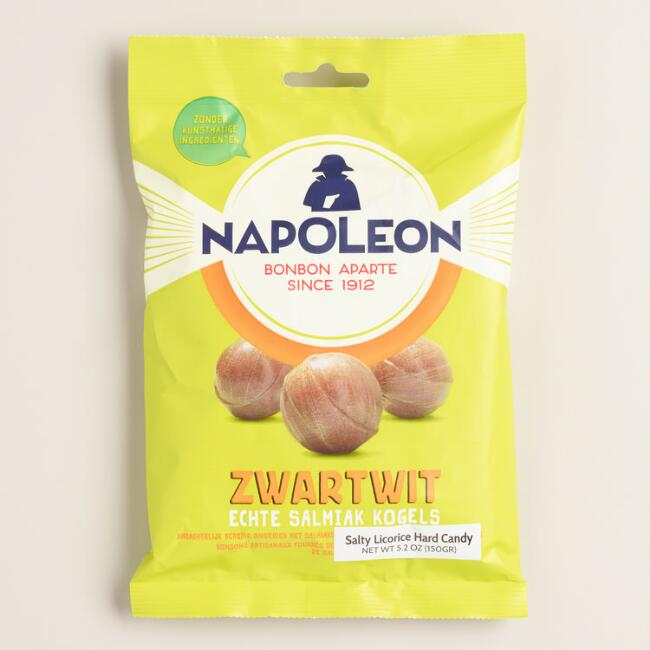 Napoleon Zwart wit Kogel Licorice Candy