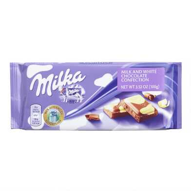Milka Spotted Milk and White Chocolate Bar