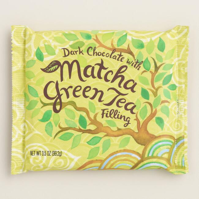 World Market Matcha Green Tea Dark Chocolate Bar