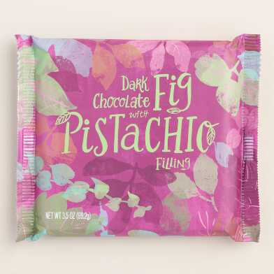 World Market® Fig And Pistachio Dark Chocolate Bar