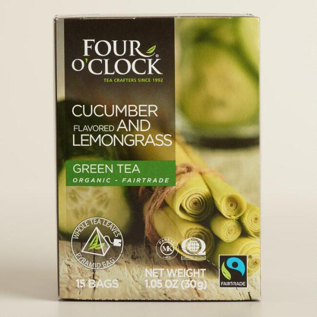 4 O'Clock Cucumber Lemongrass Green Tea 15 Count