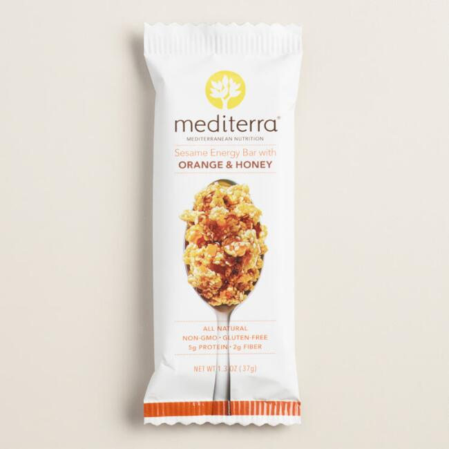 Mediterra Sesame Energy Bar with Orange and Honey