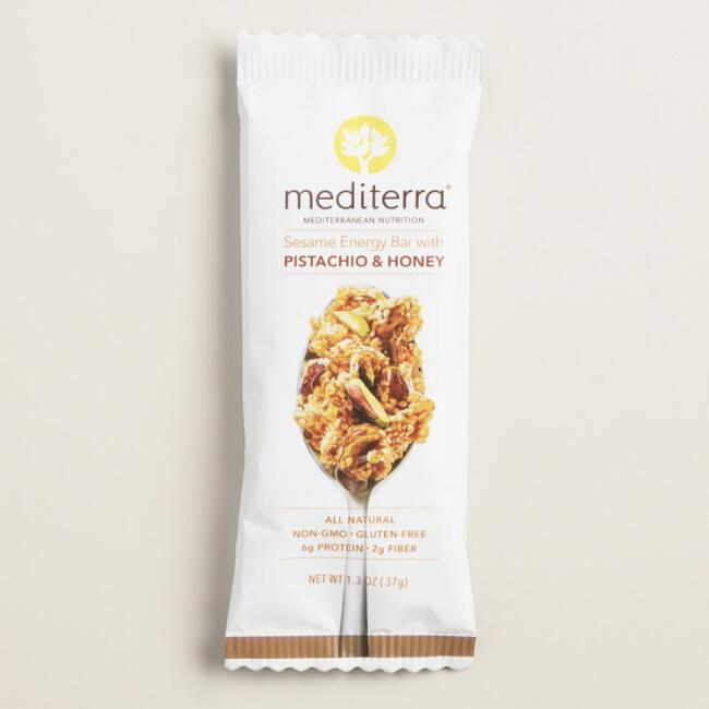 Mediterra Sesame Energy Bar with Pistachio and Honey