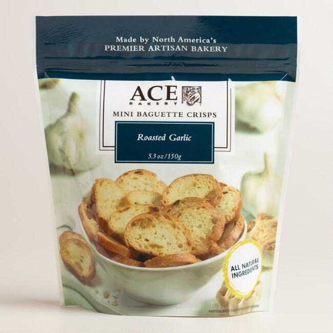 Ace Bakery Roasted Garlic Crisps