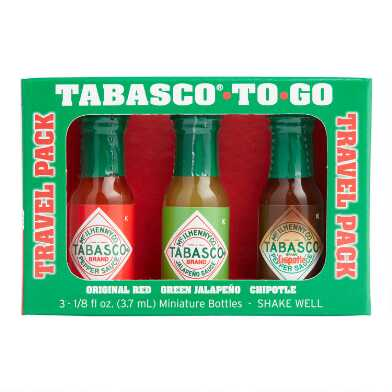 Tabasco Mini To Go Travel Hot Sauces 3 Pack