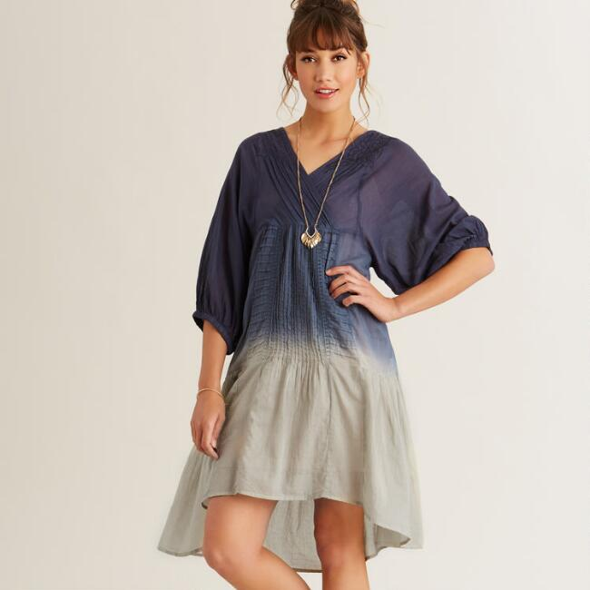 Gray Tie Dye Maisy Dress