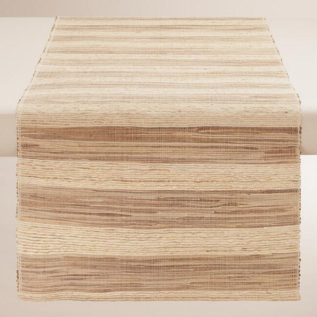 Striped Vetiver Fiber Table Runner