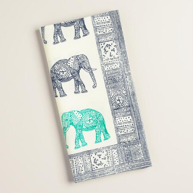 Tribal Elephant Napkins Set of 4