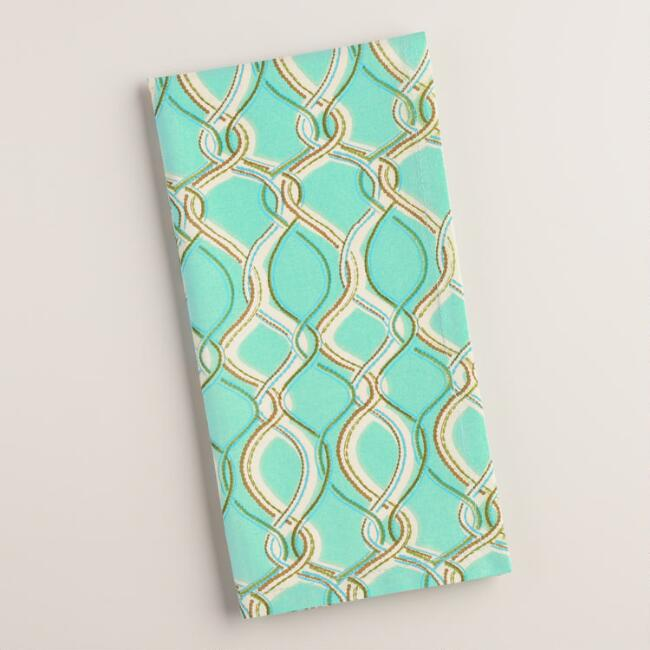 Aqua Lattice Ventura Napkins Set of 4