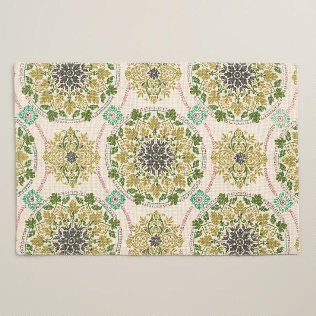 Julianna Medallion Jute Placemats Set of 4