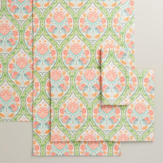 Green and Pink Giselle Table Linen Collection