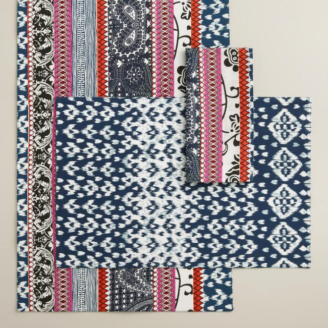 Tribal Stripe Table Linen Collection