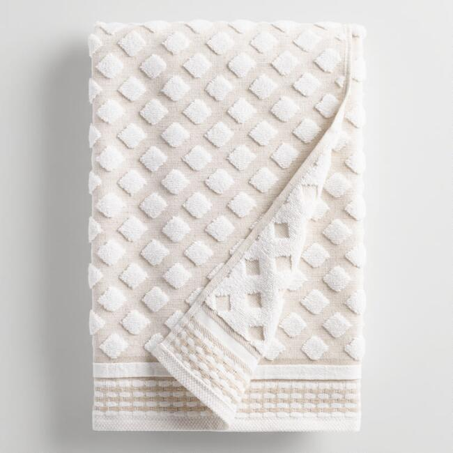 Linen Diamond Marielle Sculpted Bath Towel