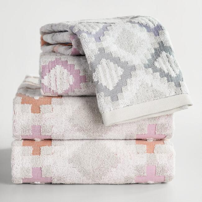 Geometric Dylan Sculpted Towel Collection