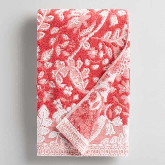 Coral Sophia Sculpted Bath Towel