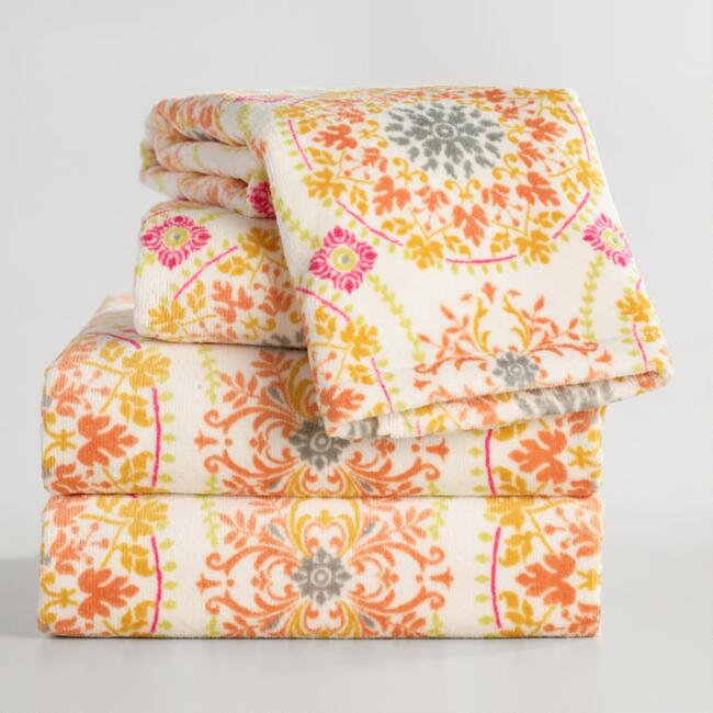 Medallion Printed Julianna Towel Collection
