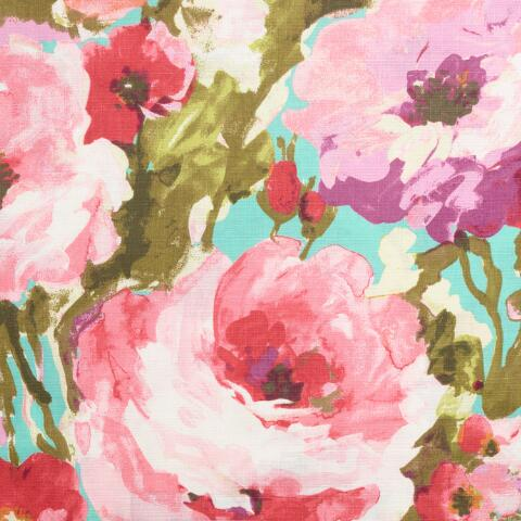 Watercolor Floral Rosamunde Shower Curtain Previous V2
