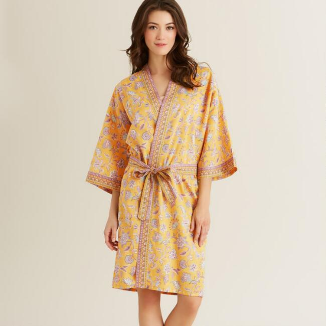 Yellow and Pink Kerani Robe