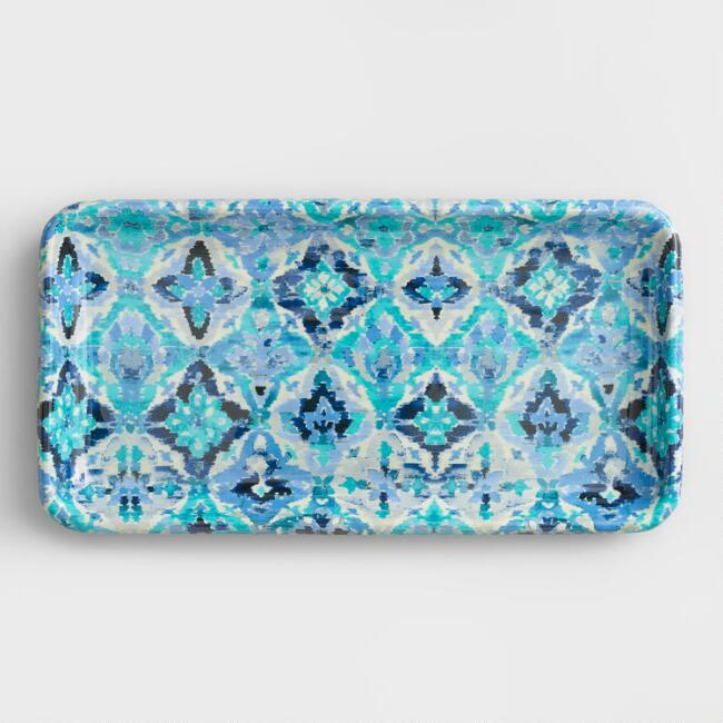 Blue Ikat Tray