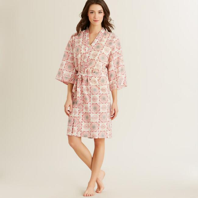 Pink Medallion Julianna Robe