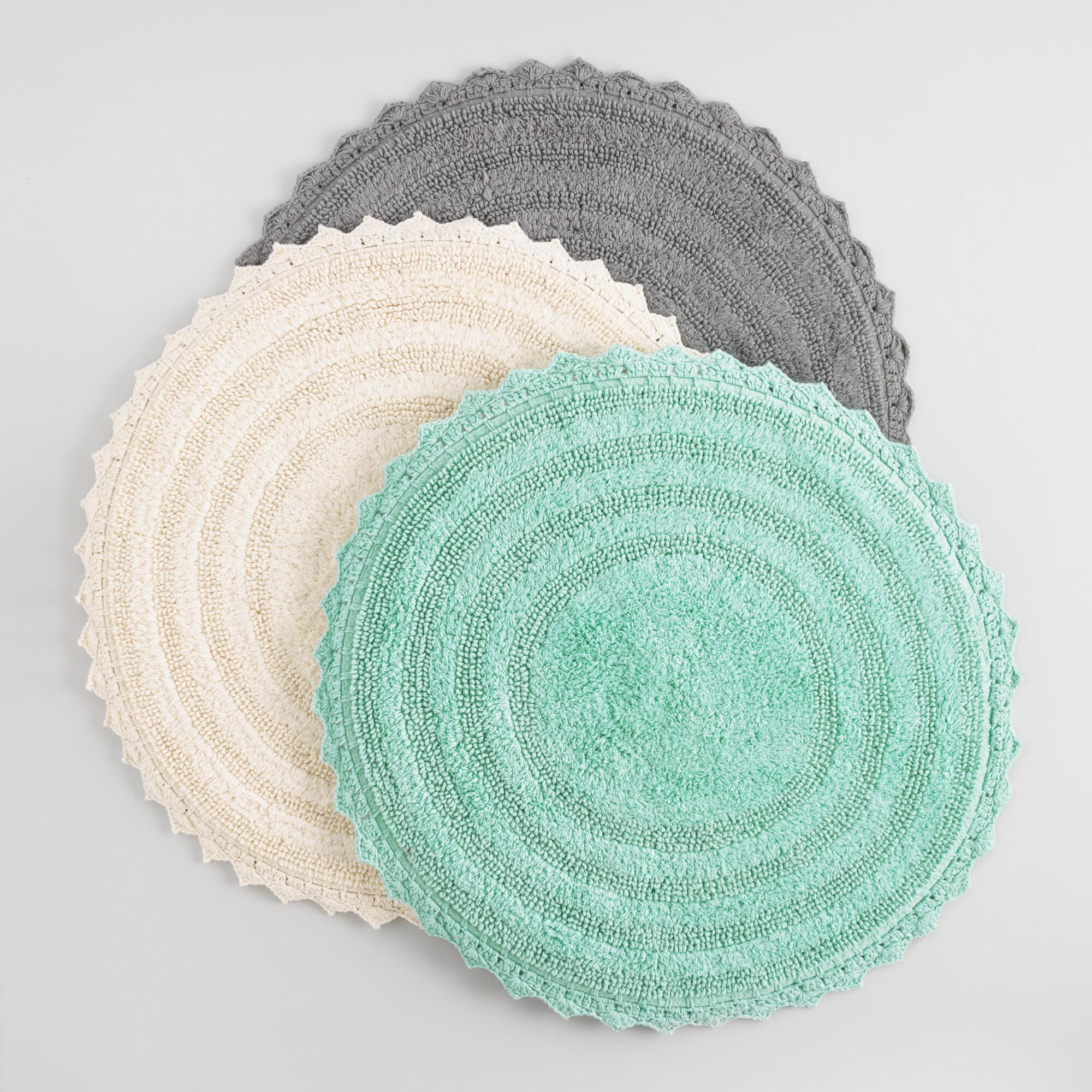 Very large bath rugs search - Round Cotton Bath Mat