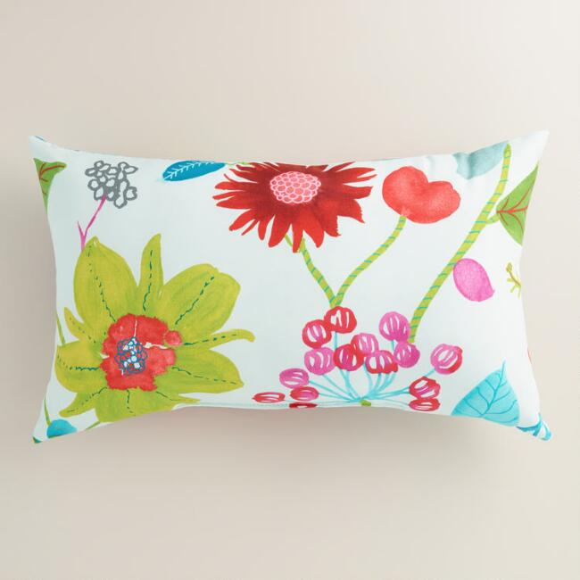 Ocean Bouquet Outdoor Lumbar Pillow