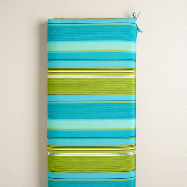 Coastal Stripe Outdoor Bench Cushion