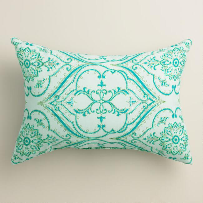 Pacifica Floral Outdoor Lumbar Pillow