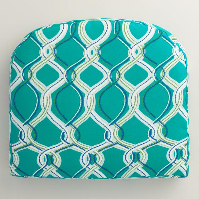 Blue Ventura Gusseted Outdoor Chair Cushion