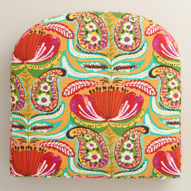 Santiago Paisley Gusseted Outdoor Chair Cushion