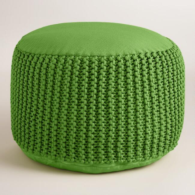 Green Outdoor Pouf
