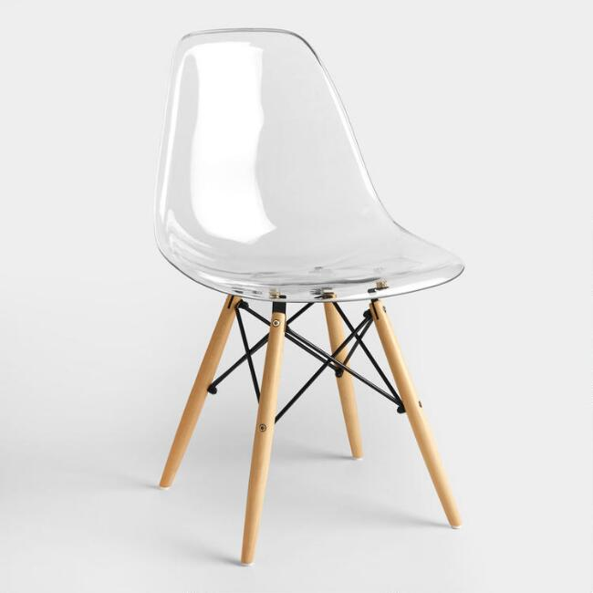 Hefner Clear Chair White